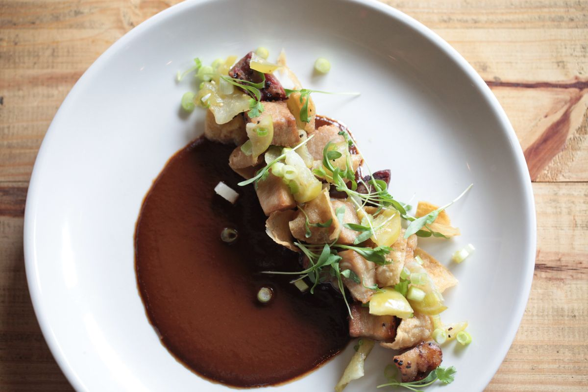 Mesquite smoked pork belly carnitas with tamarind mole, pickled tomatillos, and fried corn chips (1).jpg