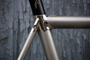 MONTAIGNE'S STAINLESS TRACK BIKE, CUSTOM MADE