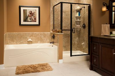 Almond Wave Bath & Shower Base with Capri 12x12 Walls and Oil Rubbed Bronze_IMG_1757_LR_bp.jpg
